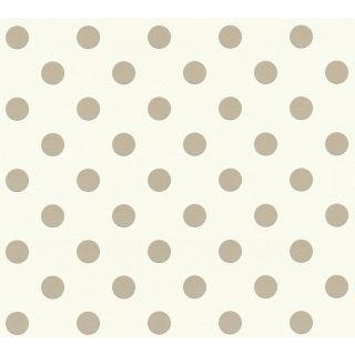 AS-369341 Beige Polka Dots Children's Wallpaper