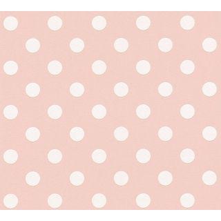 AS-369343 Pink Polka Dot Children's Wallpaper