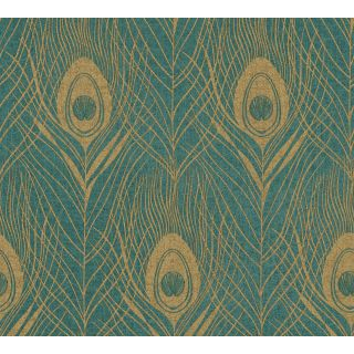Absolutely Chic AS369714 Green Feather/Luxury wallpaper