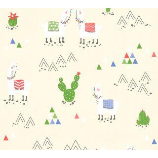 AS-369851 Beige Llama Cacti Wallpaper