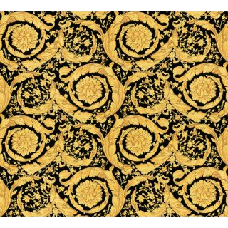 Versace 93583-4 Barocco Scroll Flowers