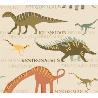 AS-936331 Green Dinosaur Wallpaper