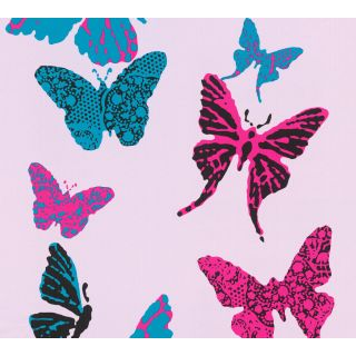 AS-936342 Violet Butterfly Animal Wallpaper