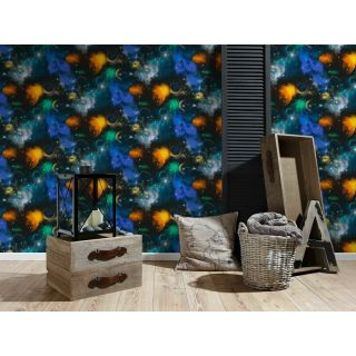AS CREATION SPACE WALLPAPER NIGHT SKY KIDS BOYS AND GIRLS BEDROOM