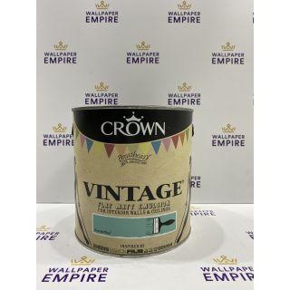 Crown Vintage Flat Matt Emulsion Paint For Interior Walls Ceilings Beatnik Blue