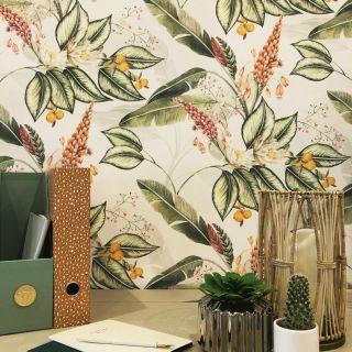 Belgravia Paradise Garden Floral Wallpaper Cream- 6602