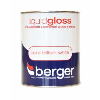 Berger Liquid Gloss 750ml - Pure Brilliant White