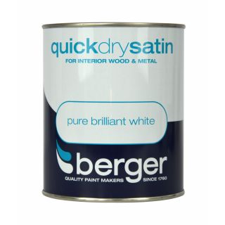 Berger Quick Dry Satin 750ml - Brilliant White