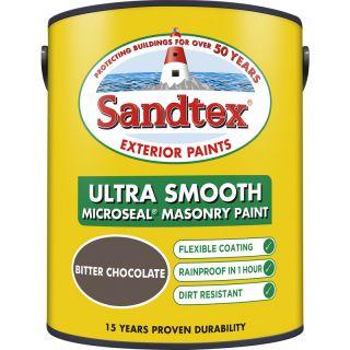 Sandtex Ultra Smooth Masonry Paint Bitter Chocolate 5L