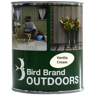 Bird Brand Outdoor Garden Paint Satin Finish Vanilla Cream 2.5L