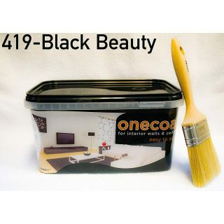 One Coat Matt Emulsion Paint - Black 5L