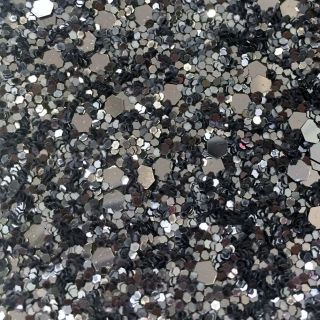 Black Silver Glitter 25CM Border (Self Adhesive)