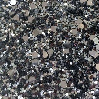 Black Silver Glitter 54CM Wall covering