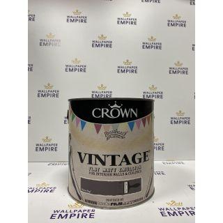Crown Vintage Flat Matt Emulsion Paint For Interior Walls Ceilings Brown Bop