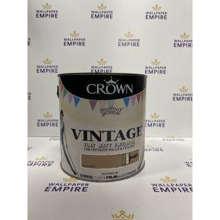 Crown Vintage Flat Matt Emulsion Paint For Interior Walls Ceilings Chelsea Girl