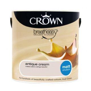CROWN MATT EMULSION - ANTIQUE CREAM 2.5L