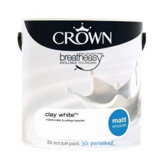 CROWN MATT EMULSION - CLAY WHITE 2.5L