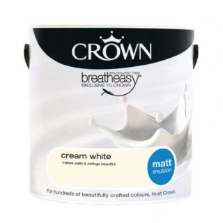 CROWN MATT EMULSION - CREAM WHITE 2.5L