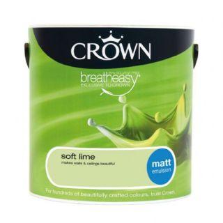 CROWN MATT EMULSION - SOFT LIME 2.5L