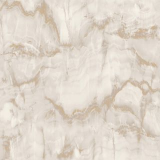 Crown Aura Marble Design Latte/Gold Metallic Wallpaper- M1585