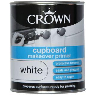 Crown Makeover Cupboard Primer Undercoat White 750ml