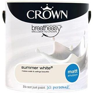 CROWN MATT EMULSION - SUMMER WHITE 2.5L