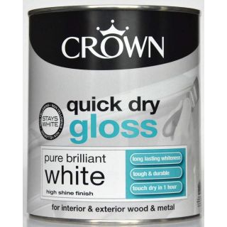 Crown Paint for Wood and Metal - White 750Ml