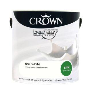 CROWN SILK EMULSION - SAIL WHITE 5L