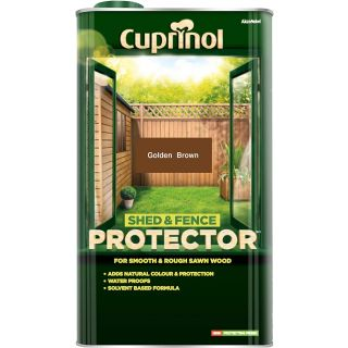 Cuprinol Shed and Fence Protector - Gold Brown 5L