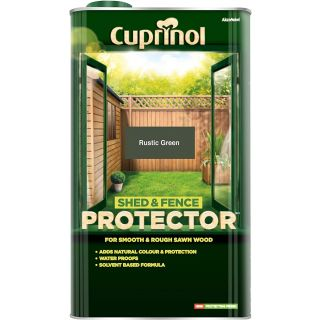 Cuprinol Shed and Fence Protector - Rustic Green 5L