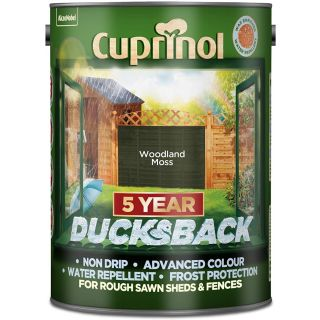 Cuprinol Ducksback 5 Year Waterproof for Sheds and Fences Woodland Moss 5L