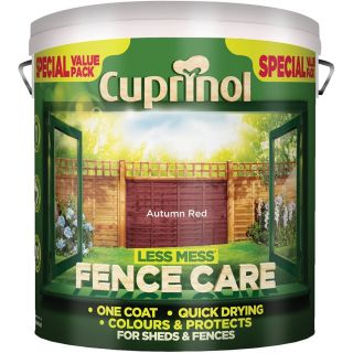 Cuprinol Less Mess Fence Care - Autumn Red 6L
