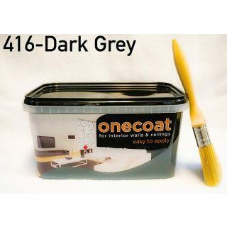 One Coat Matt Emulsion Paint - Dark Grey 2.5L