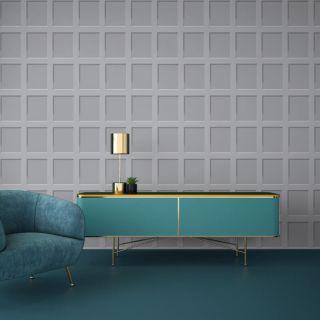 Debona Heritage Wood Panel 3D Effect Grey Wallpaper - 6741