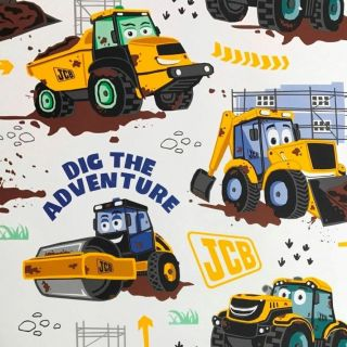 Debona Wallcoverings Official JCB Builders Boys Kids Bedroom Wallpaper