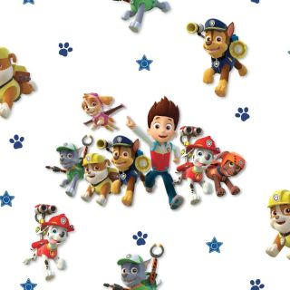 Debona Wallcoverings Official Paw Patrol Childrens Wallpaper Puppy Skye Chase