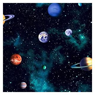Arthouse Solar System Planets Blue Cosmos Space Wallpaper  668100