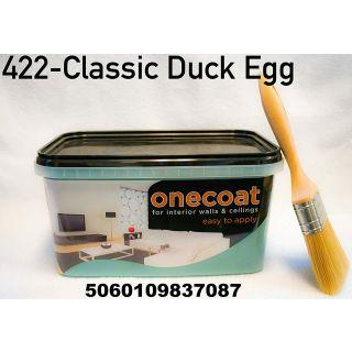 One Coat Matt Emulsion Paint - Duck Egg 5L