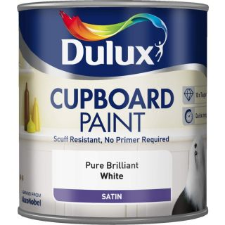 Dulux Retail Cupboard Paint - Pure Brilliant White 600ml