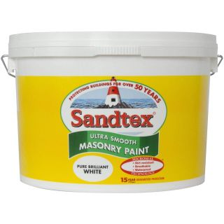 Sandtex Ultra Smooth Masonry Paint Pure Brilliant White 10L