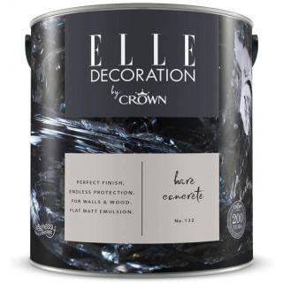 ELLE Decoration by CROWN Flat MATT Emulsion Paint - Bare Concrete No 132 2.5L