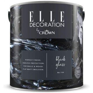 ELLE Decoration by CROWN Flat MATT Emulsion Paint - Black Glass No 194 2.5L