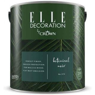 ELLE Decoration by CROWN 2.5L Flat MATT Emulsion Paint - Botanical Noir No 374