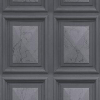 Erismann Imitations Marble Wood Panel Effect Wallpaper Grey 6319-47