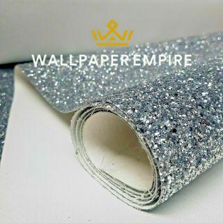 Silver Glitter 15CM Border (Self Adhesive)