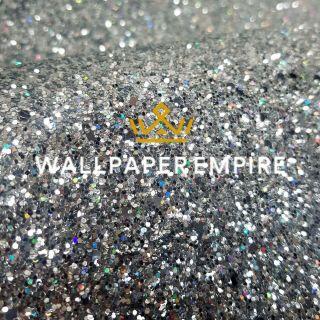 Rainbow Silver Glitter 15CM Border (Self Adhesive)
