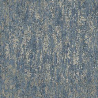 Holden Decor Industrial Texture Navy/Gold Metallic Wallpaper- 12842