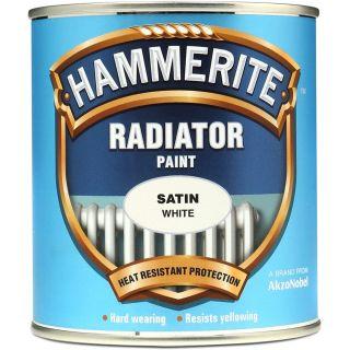 Hammerite Radiator Paint - Satin White 500ml