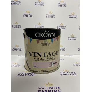 Crown Vintage Flat Matt Emulsion Paint For Interior Walls Ceilings Hot Pants