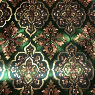 Wallpaper Empire Metallic Green And Gold Damask Wallpaper